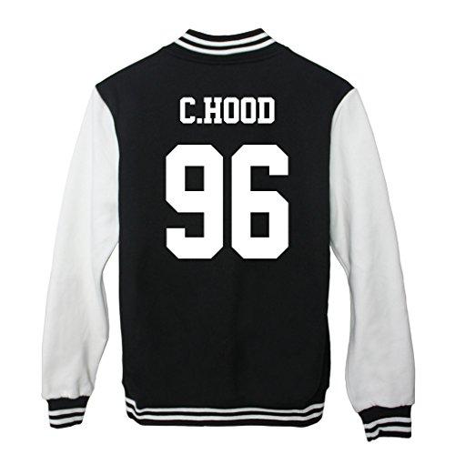 Fanstown Luke Hemmings Baseball 5SOS Jacket Hoodie With lomo Cards Black