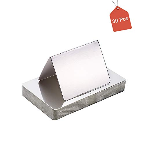 AimtoHome Silver Blank Folded Cards 3 1/2
