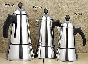 G.A.T. 127-10 Konica Stainless Steel Stove Espresso Maker