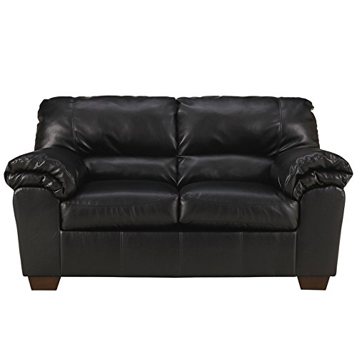 Signature Design by Ashley Commando Living Room Set in Black Leather