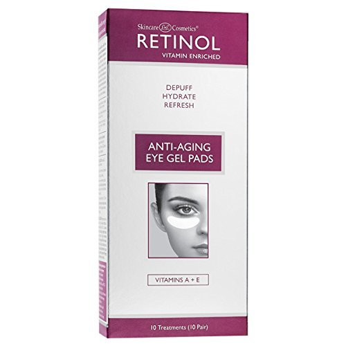 Retinol Anti-Aging Eye Gel Pads – The Original Retinol Instant De-Puff Treatment – Soothing Vitamin A Eye Gel Pads Reduce Puffiness & Refresh For A Quick, Visible Improvement in Appearance of Eyes
