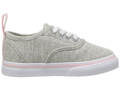 Vans Toddler T Authentic Elastic Lace Shimmer Jersey Gray Pink Size 6