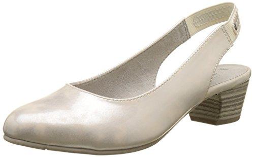Softline 29561, Sandalias con Cuña para Mujer Blanco (Wht/silver Pat 195)