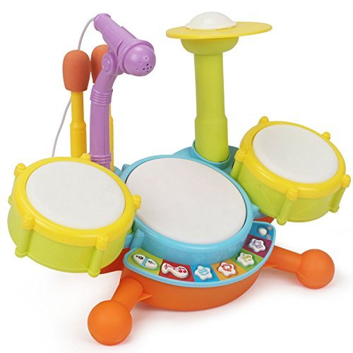 Topwon Kids Todder Rock Band Drum Toy Set