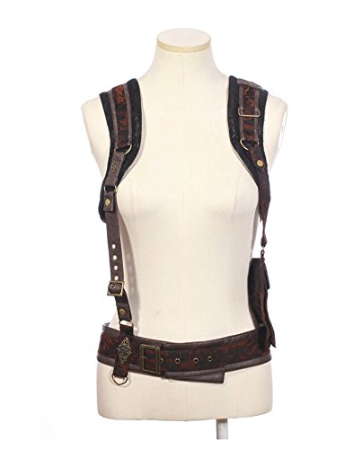 Women's Costume Steampunk Suspenders Brown (One (Western Saloon Costume Ideas)