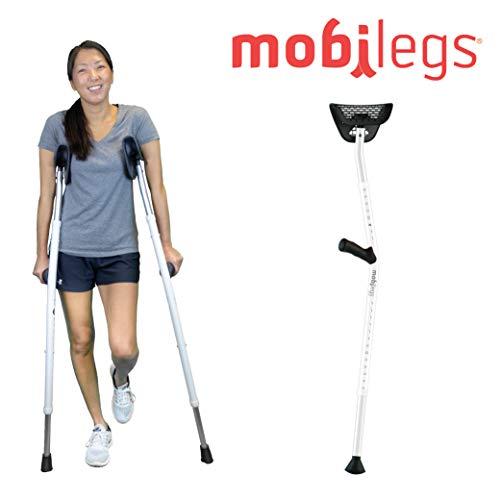 Metal crutches adjustable