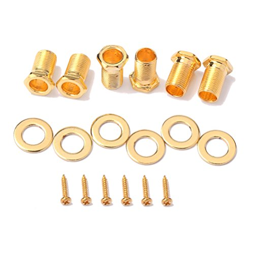 ROSENICE String Guitar Tuning Pegs Keys Tuners Machine Heads for Acoustic Electric Guitar Parts 6Pcs (Golden) by ROSENICE (Image #5)
