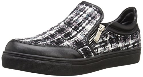 Wanted Shoes Women's Manitoba Fashion Sneaker, Black, 7 M US