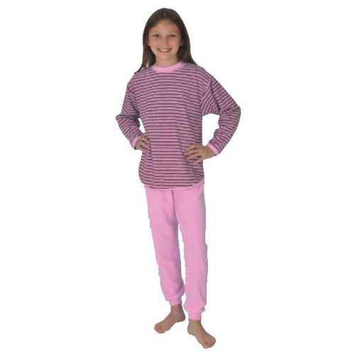 "mauz Pijama Chica ""Ringel Color Rosa Rizo"