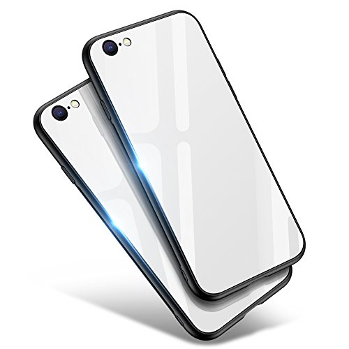 Aunote iPhone 8 Case, iPhone 7 Case,Tempered Glass Hard Shell TPU Soft Slim Clear Cute Full Protective Anti-Scratch Cover Case Cell Phone Accessories For Women Men