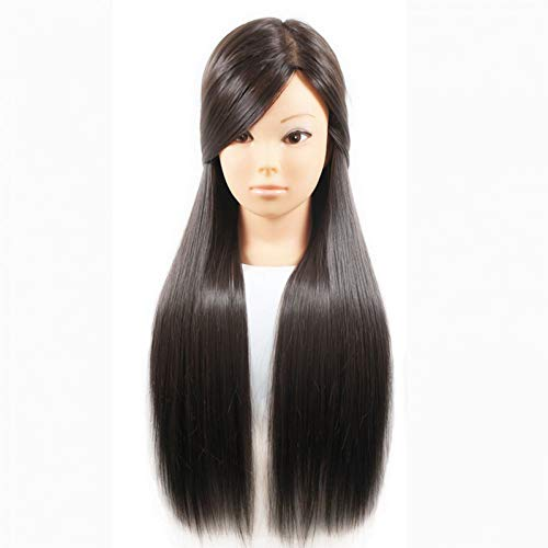 Tfmox Training Head Female 26 Hair Head Training Mannequins For Hairdressing Practise Hairstyles Head Training Dummy Dolls