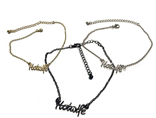 Alternative Intentions Hotwife Chain Anklets in Black, Silver and Gold - Queen of Spades - Cuckoldress - Mistress