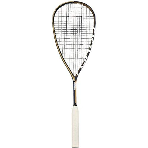 Harrow Turbo Squash Racquet, Jonathon Power Signature Edition, Navy/Vegas Gold   B01N6ACS22