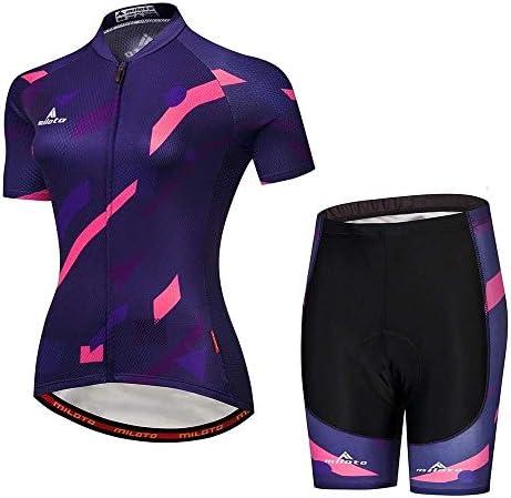 女性の通気性と速乾性のあるスーツサイクリングスーツに乗る新しい半袖スポーツ