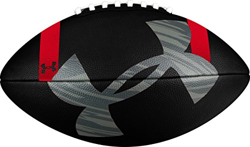 Under Armour 295 Composite Football, Black/Steel Red, Official Size