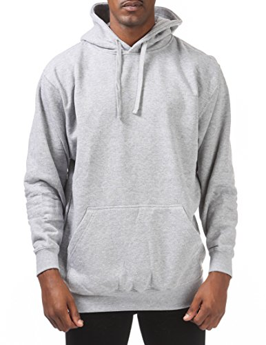 61eb9ba5ee559d Pro Club Men's Comfort Pullover Hoodie (9oz), 2X-Large, Heather Gray