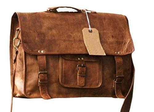 Right Choice Vintage Large Leather Shoulder Bag Women Diaper Bag Travel Satchel Bag Laptop Shoulder Bag messenger satchel bag 18X13X6 Brown