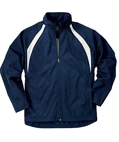 Charles River Apparel 8954 Youth TeamPro Jacket,Navy/White,M (Softex Polyester Jacket)