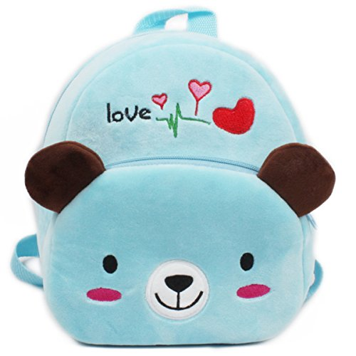 Kids Gift Ideas for Kids Plush Cartoon Backpack Satchel School Book Bag ( Bear)