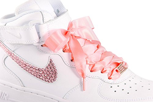 18949570a647f Pink Flat Satin Ribbon Shoelaces, Shoe Laces - Ideal for - Import It All