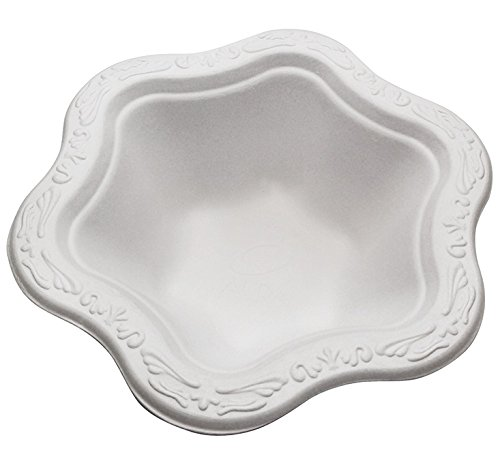 Bagasse - Natural Sugarcane Fibers Acanthus Collection Twelve (12) Ounces (oz) Disposable Floral Patterned Premium Bowls 100% By-Product Eco Friendly Environmental Paper Alternative Tree Free (50)