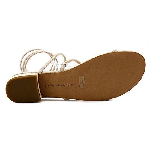 Avec Les Filles Womens Caila Open Toe Beach Ankle Flats Sandals Pink Champagne Size 6.5 M US