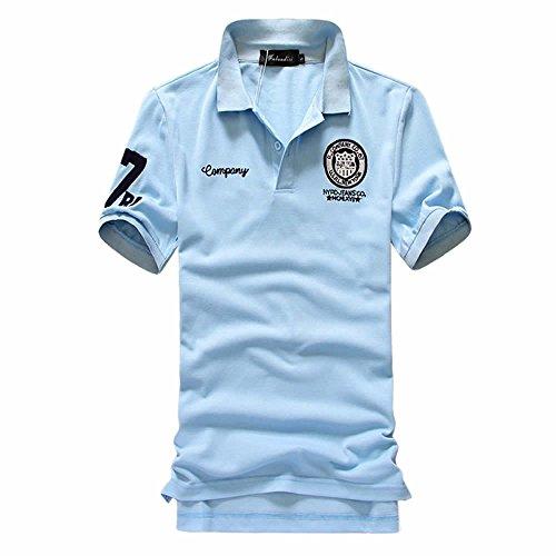 変装したクリープベッドSHEYA ポロシャツ メンズ 半袖 ボタンダウン 胸刺繍 スポーツ ウェア ゴルフウェア メンズ ポロシャツ 白 夏