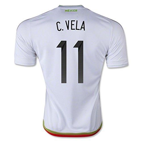 レタッチ壮大な治療ADIDAS C. VELA #11 MEXICO AWAY SOCCER JERSEY 2015-16/サッカーユニフォーム メキシコ アウェイ用 C. ベラ 背番号11 2015-16