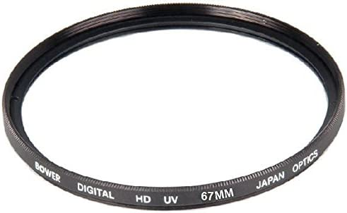 Bower 67mm UV Lens Filter for Canon EF 100mm f//2.8L IS EF 70-200mm f//4L USM EF 70-300mm f//4-5.6L IS USM EF 70-200mm f//4L IS USM Lens EF-S 18-135mm f//3.5-5.6 IS STM