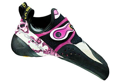 La Sportiva Solution piedi di gatto, Donna weiß/pink