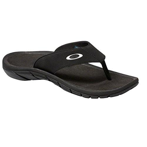 Oakley Mens Super Coil Sandal 2.0 , Blackout, - Men For Oakley Flip Flops