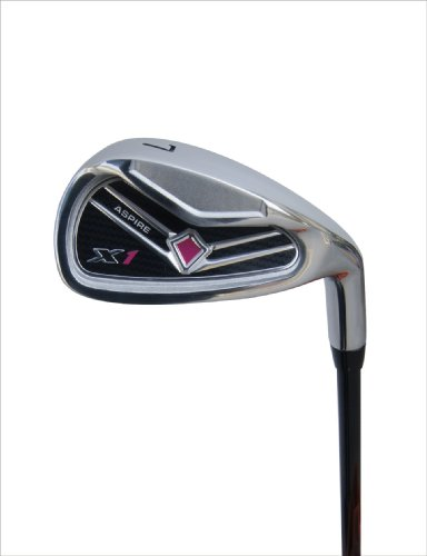 """Aspire X1 Ladies Womens Complete Right Handed Golf Clubs Set Includes Driver, Fairway, Hybrid, 6-PW Irons, Putter, Stand Bag, 3 H/C's Cherry Pink Petite Size for Ladies 5'3"""" and Below!"""