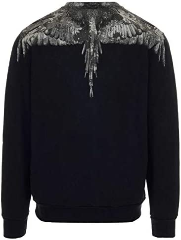 MARCELO BURLON Luxury Fashion Herren CMBA009E20FLE0021007 Schwarz Baumwolle Sweatshirt | Herbst Winter 19