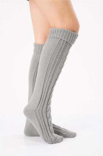 631804792 SherryDC Women s Cable Knit Long Boot Stocking Socks Knee High ...