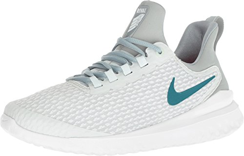 Nike Womens WMNS Renew Rival Barely Grey GEODE Teal Punch Size -