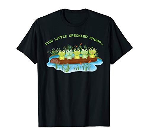 Five Little Speckled Frogs unique Nursery Rhymes T-shirt