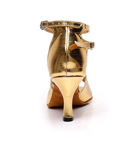 thé Salsa Dance jazz Talons Sandales Salle Soirée Latine Party Chaussures Eu32 tango De 5 En À Hauts uk2 Our33 Yingsssq Dorés6cm Femmes modern samba Danse Pour n68vTxq