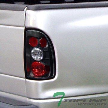Topline Autopart JDM Black Altezza Tail Lights Rear Brake Lamps For 97-04 Dodge Dakota TruCK Cab Jy