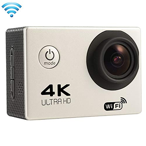 (#33) F60 2.0 inch Screen 4K 170 Degrees Wide Angle WiFi Sport Action Camera Camcorder with Waterproof Housing Case, Support 64GB Micro SD Card(Silver)