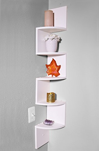 Review Adorn corner white shelves (5 Tier) By Adorn Home Essentials by Adorn Home Essentials