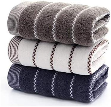 CQIANG 綿タオル、3セットの柔らかい吸収性の肥厚、男性と女性のカップル家庭用大人用ウォッシュタオル (Color : C)