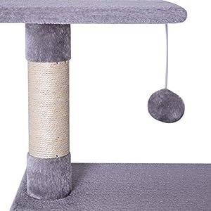 Dibea-KB00253-rbol-Rascador-para-Gatos-Escalador-Altura-80-cm-Color-Gris-Claro