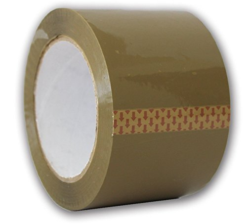 AM-Ink Ultra Tan Brown 2.0 MIL Tape 3'' X 110 Yards (330' ft) Heavy Duty Carton Packing Packaging Sealing Tape (24-Rolls)