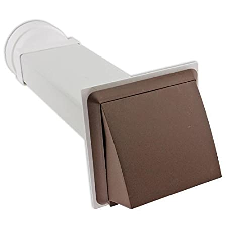 Spares2go Universal External Wall Vent Cover Kit For Vented Tumble Dryers  (Brown)