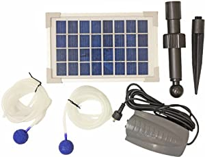 woodside solar powered 2 air stone pond water oxygen oxygenator woodside solar powered 2 air stone pond water oxygen oxygenator aerator pump