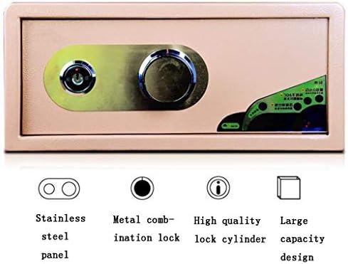 パーツボックス 安全な知能機械パスワード+キーロックを解除デジタルプロダクツ貴重品ホームワードローブオフィス見えない小さな金庫 (Color : Brown, Size : 45*36*20cm)