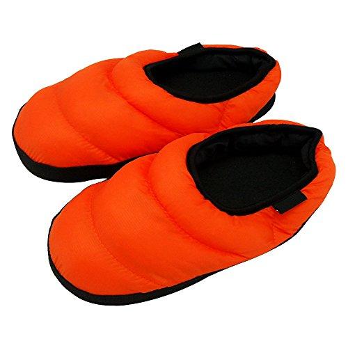 Eastlion Women and Men's Winter Indoor Anti-skid Keep Warm Slipper Down Slippers Home Shoes Orange