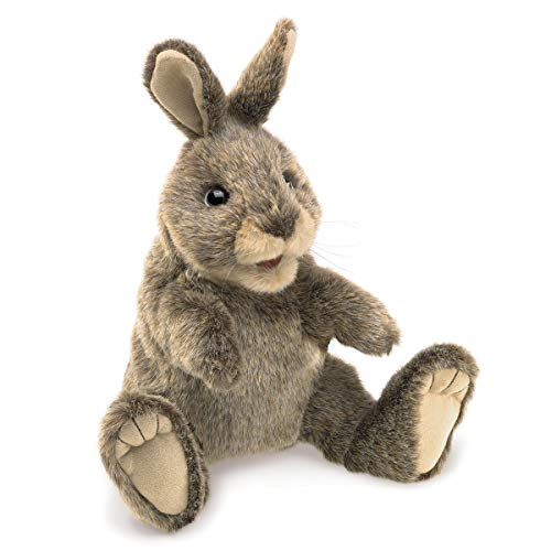 Folkmanis 3130 Small Cottontail Rabbit Hand Puppet, One Size, Multicolor
