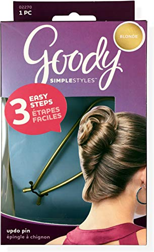 Goody 02270 Blonde Simple Styles Modern Updo Pin, Blonde, Code 1941089.1.00.02 or 1941089, 1 Pack; Get a Trendy Look in Just 3 Easy Steps, Great For All Hair Types