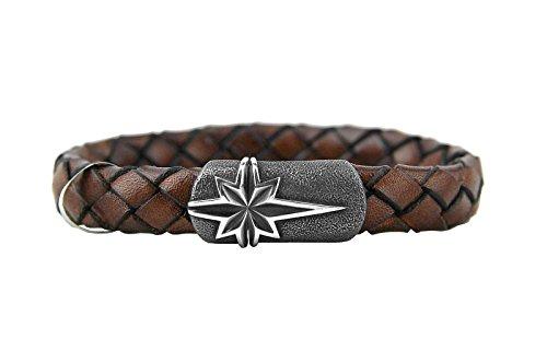 David Yurman Braided Leather Bracelet - Brown-Sterling Silver 31-B